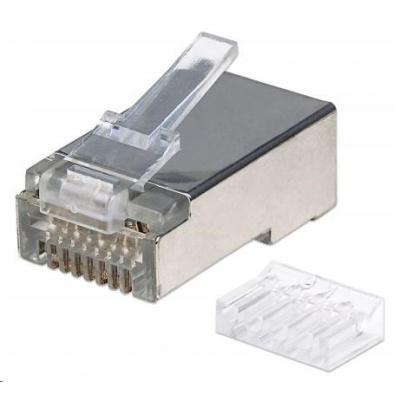 Intellinet konektor RJ45, Cat6, stíněný STP, 15µ, drát, 90 ks v nádobě