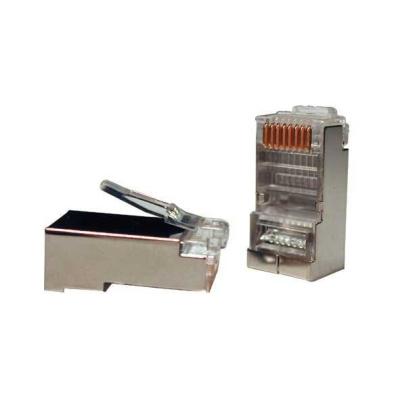 Konektor STP RJ45 (8p8c), Cat5E, 30µm, drát - 100 ks