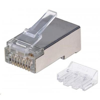 Intellinet konektor RJ45, Cat6A, stíněný STP, 15µ, lanko, 90 ks v nádobě