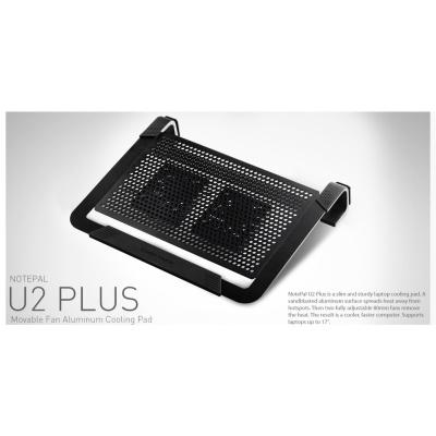 """Cooler Master chladící podstavec NotePal U2 PLUS pro notebook 12-17"""", 2x8cm, černá"""