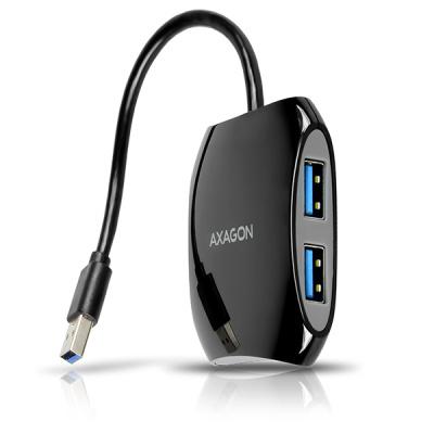 AXAGON HUE-S1B, 4x USB3.0 QUATTRO hub, 16cm kabel