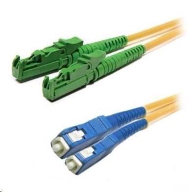 Duplexní patch kabel SM 9/125, OS2, E2000(APC)-SC(PC), LS0H, 3m