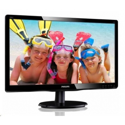 "Philips MT MVA LED 19,5"" 200V4QSBR/00 - MVA panel, 1920x1080, 250cd/m2, D-Sub, DVI-D"