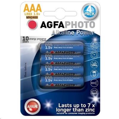 AgfaPhoto Power alkalická baterie LR03/AAA, blistr 4ks