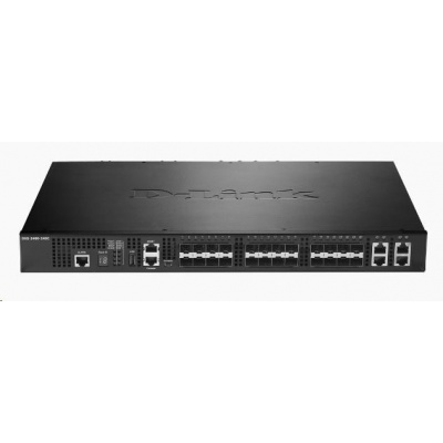 D-Link DXS-3400-24SC 24-port 10Gigabit Stackable Managed Switch, 20x 10GbE SFP+, 4x 10GbE RJ45/SFP+ combo
