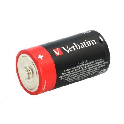 VERBATIM Alkalické baterie C,  2 PACK / LR14