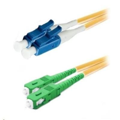 Duplexní patch kabel SM 9/125, OS2, LC(PC)-SC(APC), LS0H, 2m