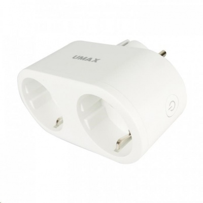 UMAX U-Smart Wifi Plug Duo - Chytrá Wifi dvojitá zásuvka 16A s měřením spotřeby, časovačem a mobilní aplikací