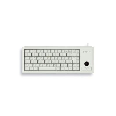 CHERRY klávesnice G84-4400 s trackballem/ drátová/ USB/ ultralehká a malá/ bílá EU layout