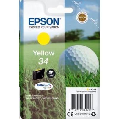 "EPSON ink bar Singlepack ""Golf"" Yellow 34 DURABrite Ultra Ink 4,2 ml"