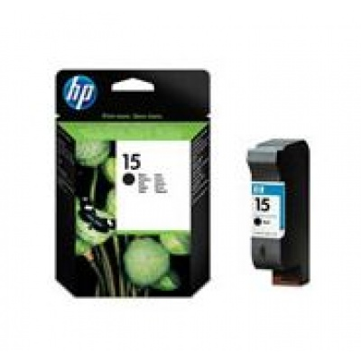 HP 15 Black Ink Cart, 25 ml, C6615DE