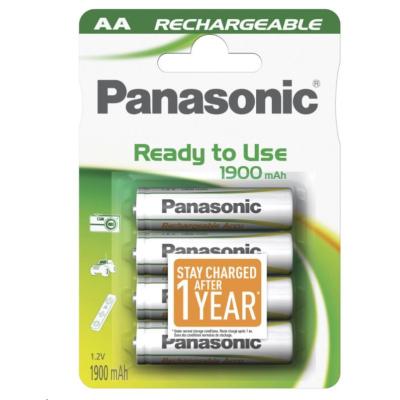 PANASONIC Nabíjecí baterie (Ready to Use - pro Časté použití) HHR-3MVE/4BC   1900mAh AA 1,2V (Blistr 4ks)